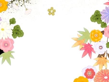 Japanese flower frame