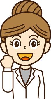 Doctor, female doctor, person illustration 17