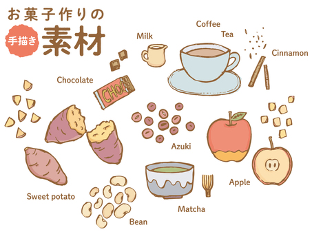 Hand-painted material of sweets making