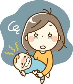 Baby and Mama _ crying at night