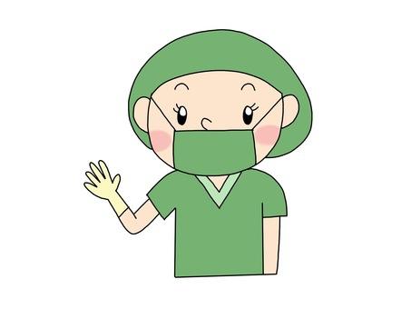 手術室護士綠色