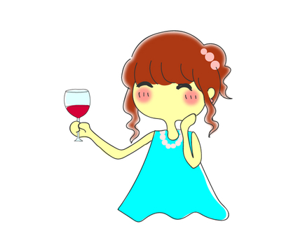 Wine and girl