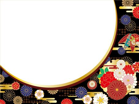 Japanese Pattern Background (Black) 02