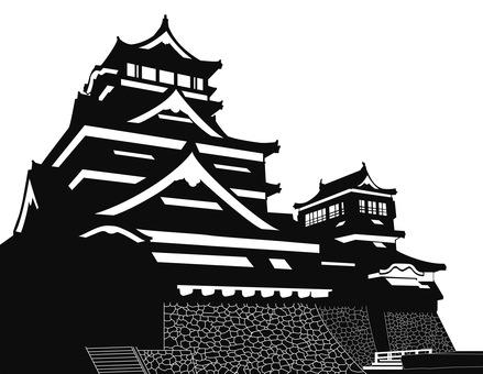 Kumamoto Castle Silhouette
