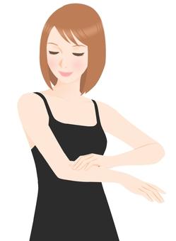 Arm skin care (underwear black)