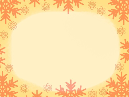 Snow Crystal Frame Orange