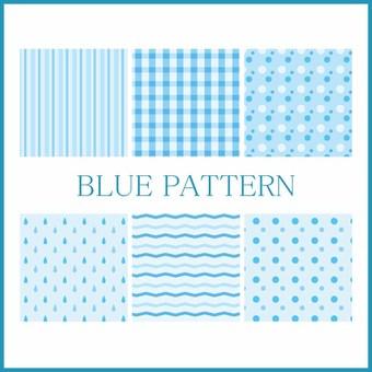 파란색 패턴