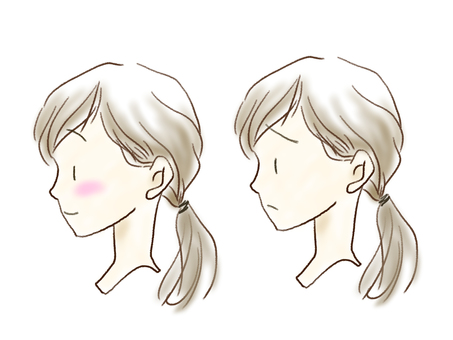 Female side profile