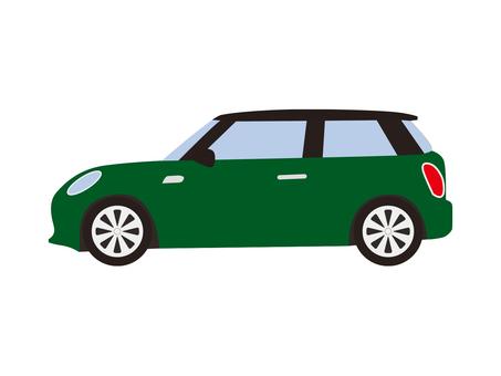 Compact car (green)