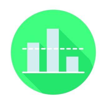 Flat icon - bar chart