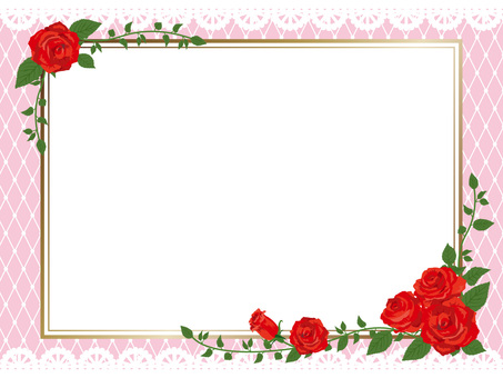 Red rose gothic frame side 01