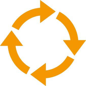Rotating arrow_Orange