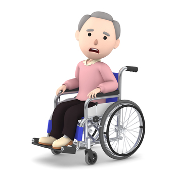 Wheelchair old man 06