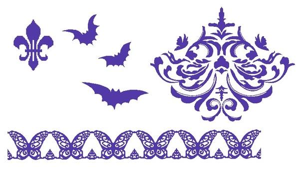 Gothic material set (purple)