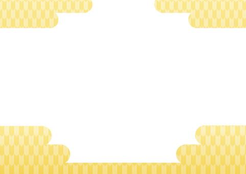 Yasuri pattern (gold / cloud)