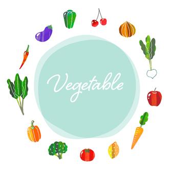 野菜果物フレーム