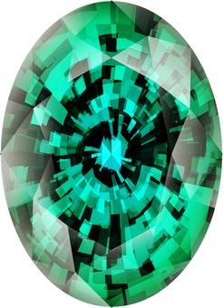 ai Emerald of oval cut