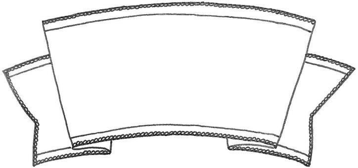Ribbon hand-painted ribbon