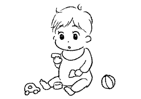 Toy play baby illustration