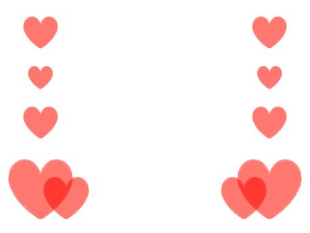 Frame full of hearts