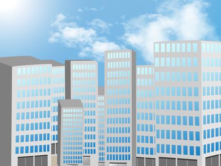 고층 빌딩이 늘어선 도시