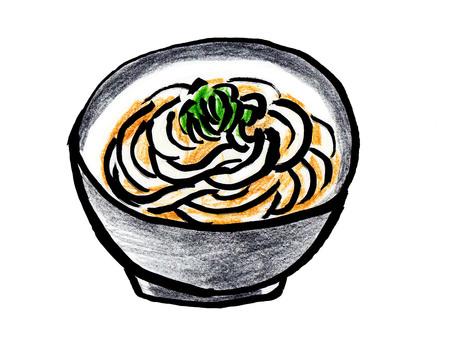 Miyauchi Udon (writing brush colored pencil)