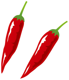 Hot red pepper (no line)