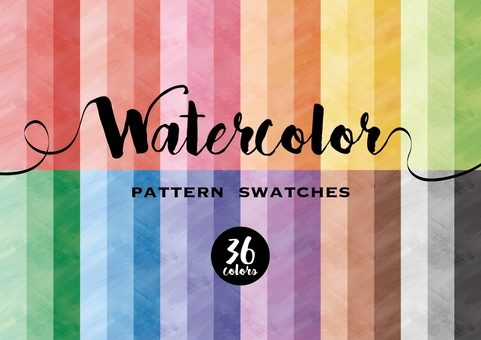 Watercolor pattern swatch