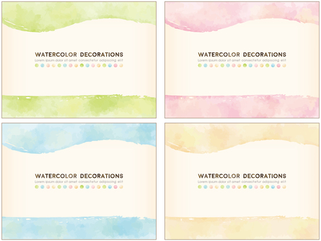 Watercolor touch background materials 4 species