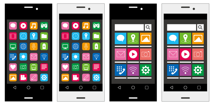 Smartphone home screen