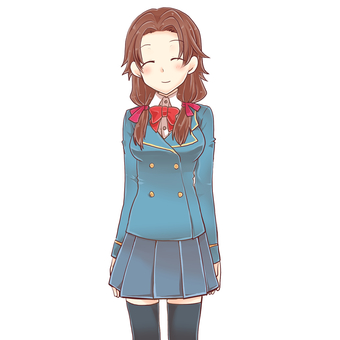 Uniform girl standing picture (h)