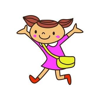 Girls wearing bags