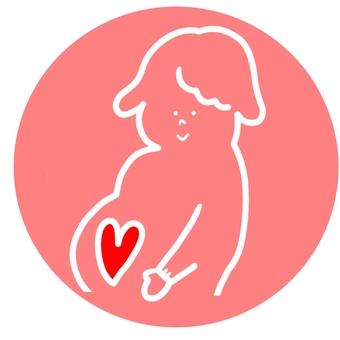 Pregnant woman's mark ②
