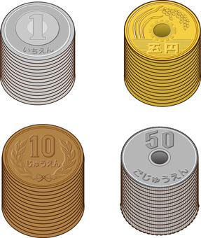 동전 6 종 간단 가득