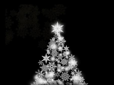 Christmas tree black background back