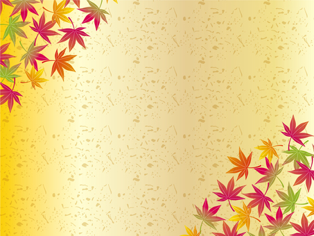 Autumn Japanese pattern frame 05