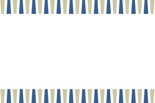 북유럽 풍의 기하학적 프레임 감색 × 베이지