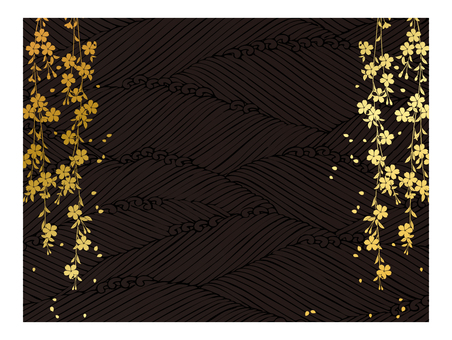 Japanese Pattern Gold and Black