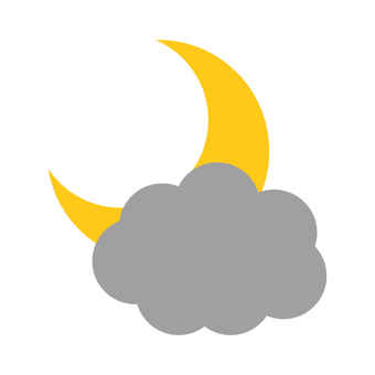 Crescent Moon and Clouds