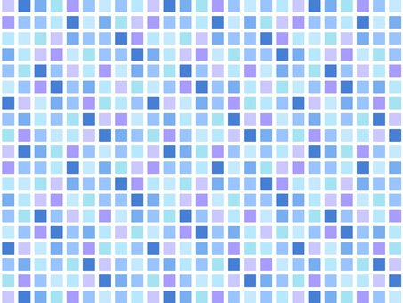 Mosaic tile pattern of blue series