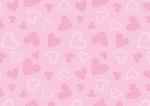 心形粉紅色