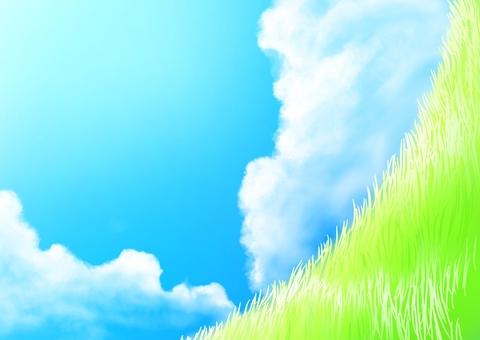 Prairie and sky