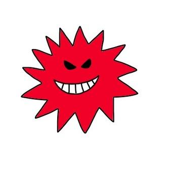 Virus handwriting icon