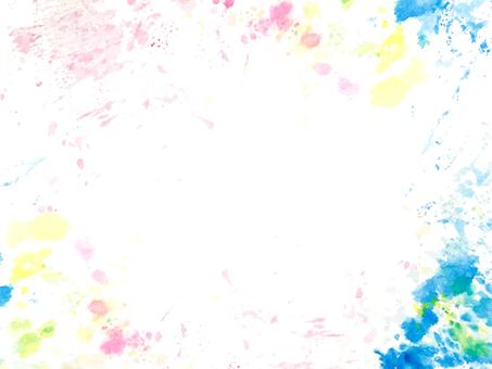 【Transparent】 Frame of splash of colorful ink
