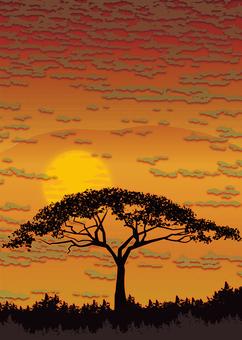 背景-夕暮れ