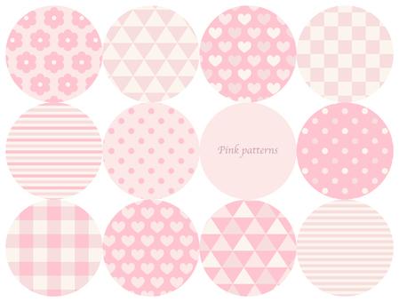Pink seamless pattern set