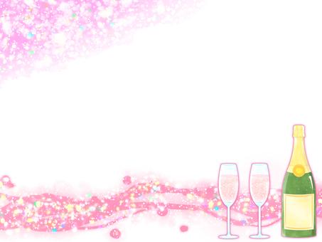 Champagne frame (pink)