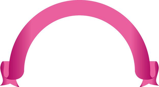 Pink around the ribbon