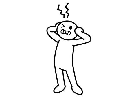 【お題】棒人間-頭が痛い