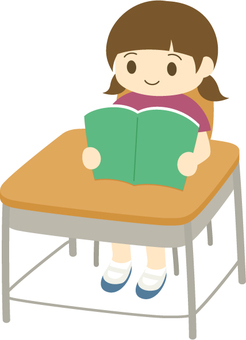 Study _ Genuine reading _ girls